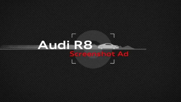 Audi R8 screenshot advertentie