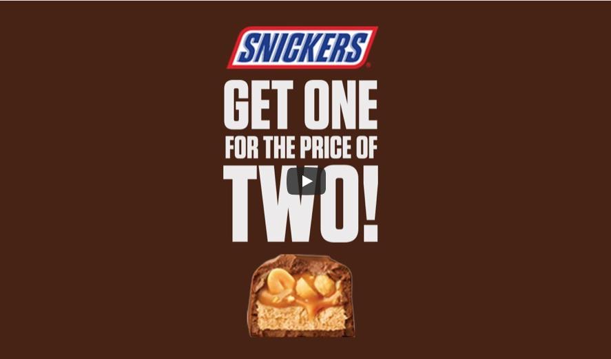 Eén Snickers voor de prijs van twee