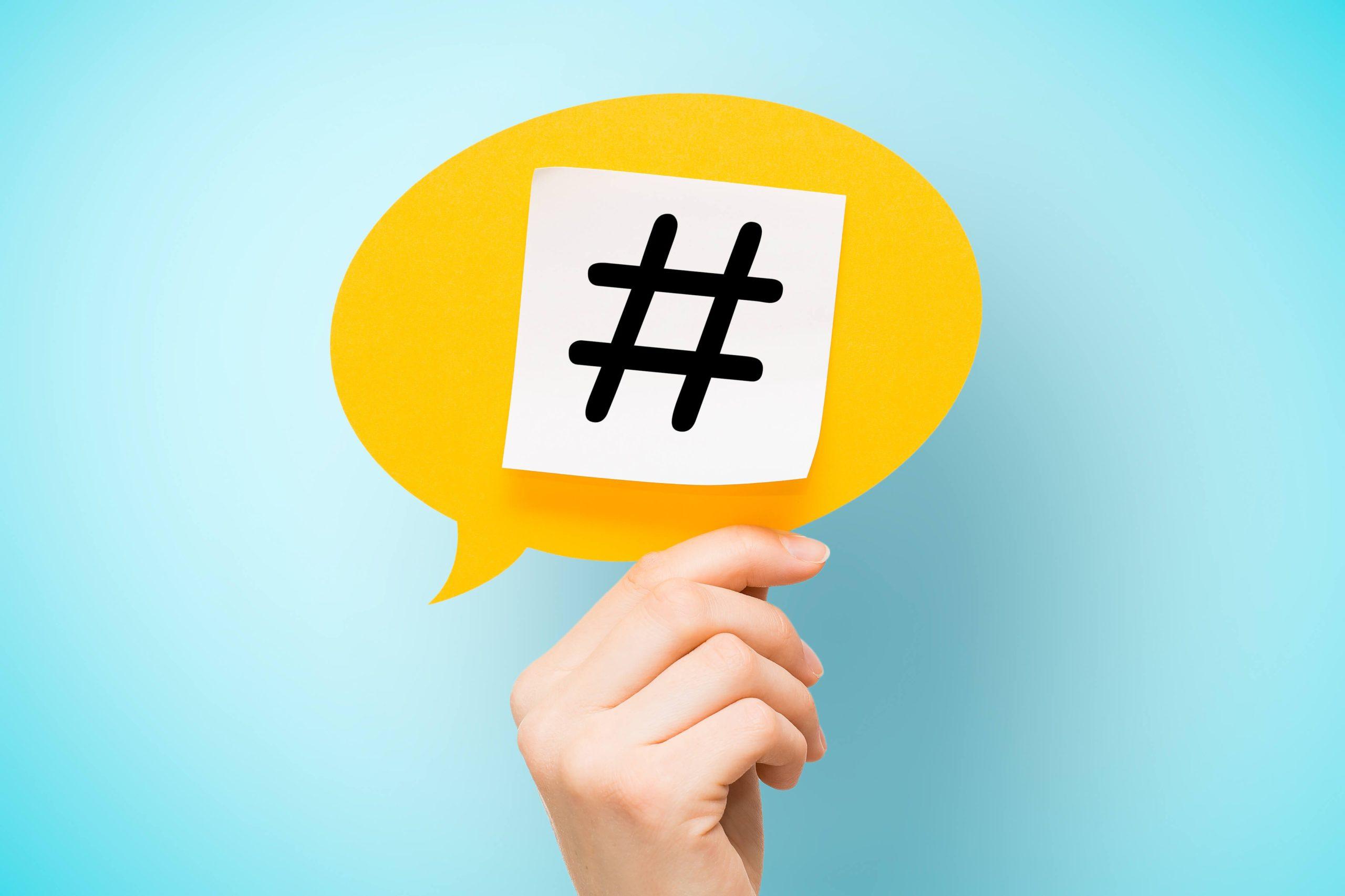 Hartstikke hashtag